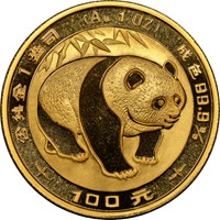 1983  G100Y Gold Panda Coin Obv