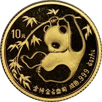 1985  G10Y Gold Panda Coin Obv