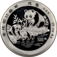 1994 12oz  S100Y Silver Panda Coin Obv
