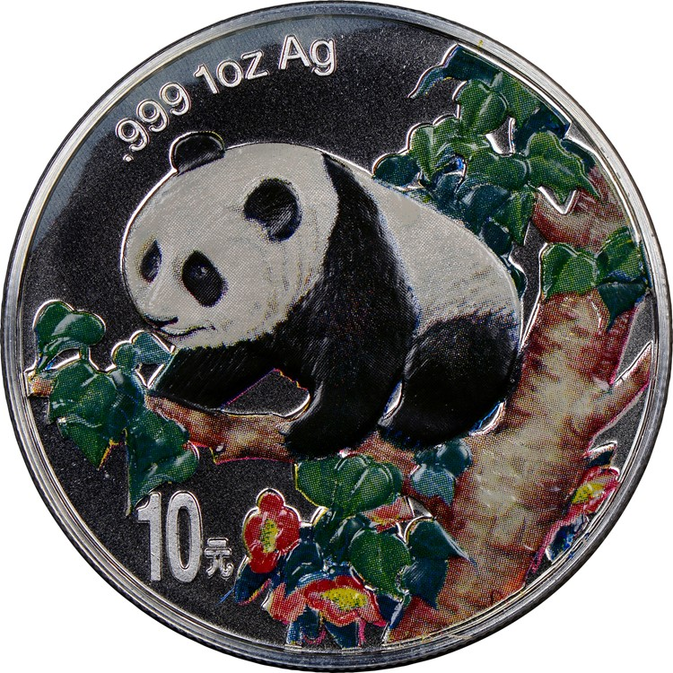 1998 10 Yuan Pf Silver Panda Colorized Value Ngc