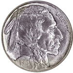 Buffalo Five Cents - Buffalo Nickel  - Bison Nickel - Indian Head Nickel