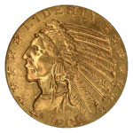 Indian Head $5 - Indian Half Eagle  - Indian Head Five Dollar