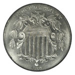 Shield Five Cents - Shield Nickel - Shield 5C