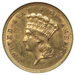 Three Dollar Gold - Three Dollar Princess - Indian Head Three Dollar - Gold $3