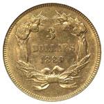 Three Dollar Gold - Three Dollar Princess - Indian Head Three Dollar - Gold $3