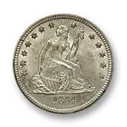 1864 Quarter Dollar
