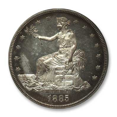 NGC -Eliasberg 1885 Trade Dollar Obv