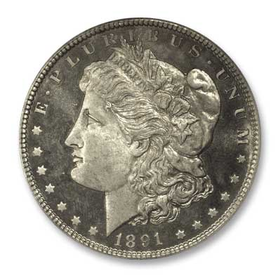 NGC -Eliasberg 1891 Silver Dollar Obv