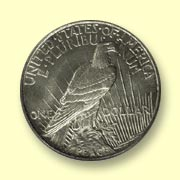 1991 Peace Dollar