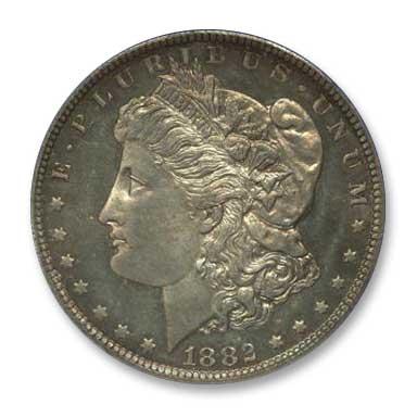 NGC - Jack Lee 1882 Dollar Obv