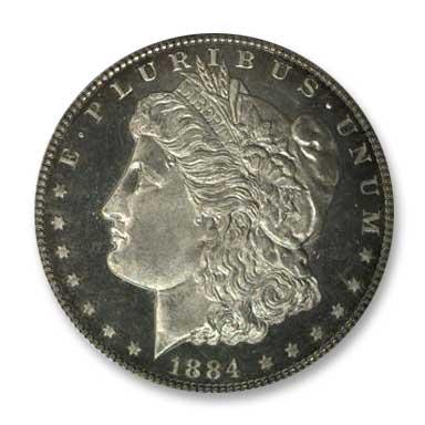 NGC - Jack Lee 1884 Dollar Obv