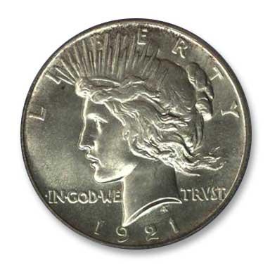 NGC - Jack Lee 1921 Dollar Obv