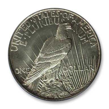 NGC - Jack Lee 1921 Peace Dollar Rev