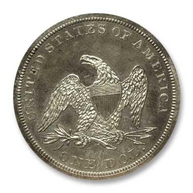 NGC - Kaufman 1848 Silver Dollar Rev