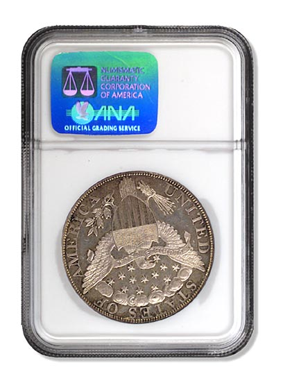 NGC - King of Siam Silver Dollar Piece Rev