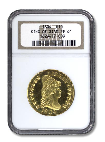 NGC - King of Siam Golden Eagle Piece Obv