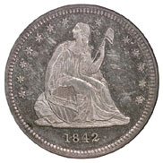 1842 SMALL DATE 25C