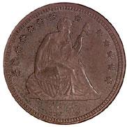 1873 CC NO ARROWS 25C