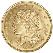 1834 PLAIN 4 CLASSIC $5
