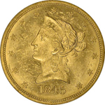 SS Republic Coin - 1845-O Coronet Eagle