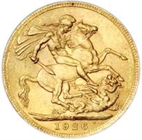 South Africa Gold Sovereign reverse