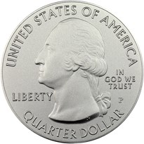 America the Beautiful 5 Ounce Silver obverse