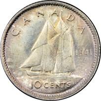 Canada Silver Dime reverse