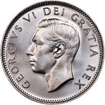 Canada Silver Quarter obverse