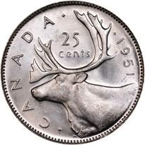 Canada Silver Quarter reverse