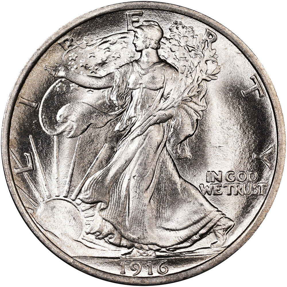 Very nice original better date 1936-D Walking Liberty half