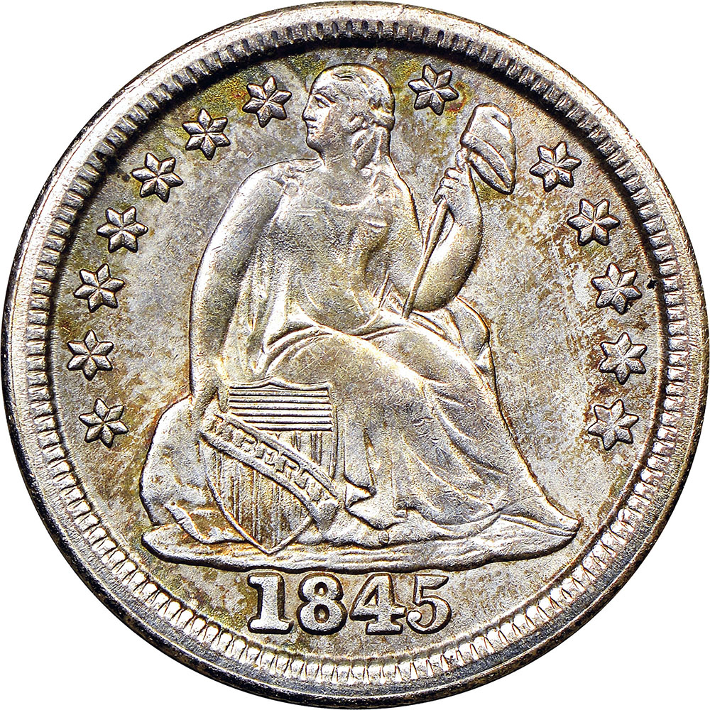 1837 1891 Seated Liberty Dimes Ngc