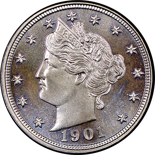 5 Cents 1905 1911 Liberty Head V-Nickel 1906 3 Coins for 1 Price