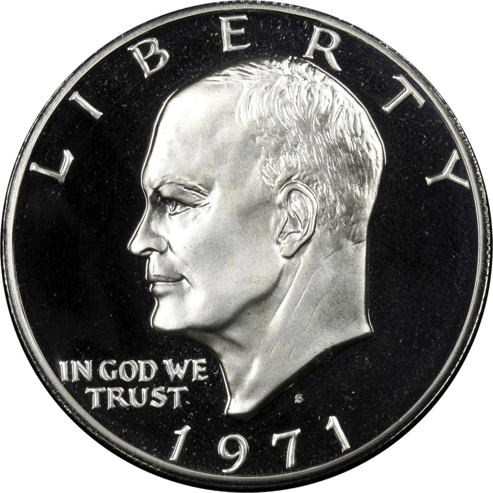 1976-S 40/% Silver Uncirculated Eisenhower Dollar Variety 1