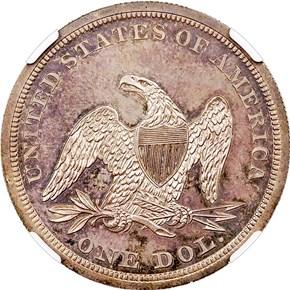 1840 $1 PF reverse