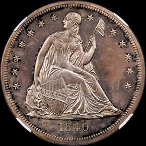 1840 S$1 PF obverse