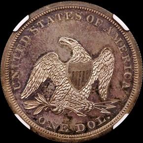 1840 S$1 PF reverse