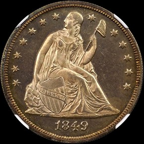 1849 S$1 PF obverse