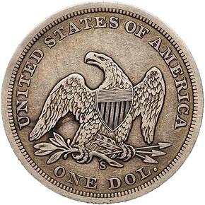 1859 S S$1 MS reverse