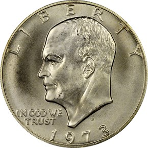 1973 S SILVER $1 MS obverse
