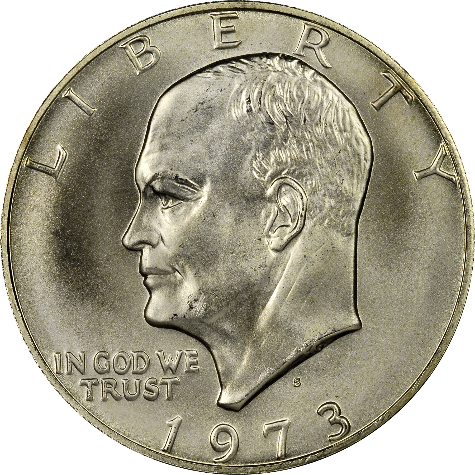 1973-S Proof 40/% Silver Ike Eisenhower Dollars Average Circulated $1 Face Value