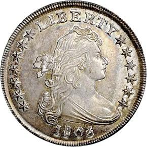 1803 $1 MS obverse