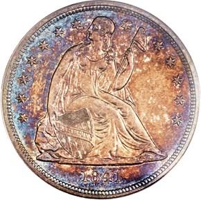 1841 $1 PF obverse