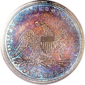 1841 $1 PF reverse