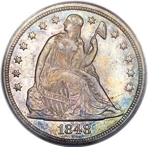 1848 $1 MS obverse