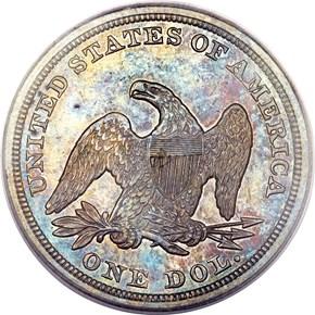 1848 $1 MS reverse
