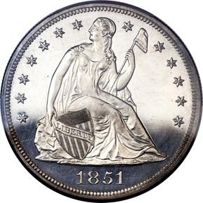 1851 $1 PF obverse
