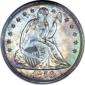 1856 $1 PF obverse