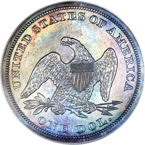 1856 $1 PF reverse