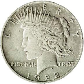 1922 MEDIUM RELIEF $1 MS obverse