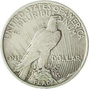 1922 MEDIUM RELIEF $1 MS reverse